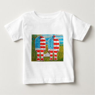 2 painted flag big foots A & H south. Baby T-Shirt