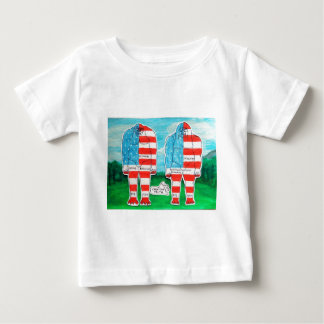 2 painted flag big foots H & A Baby T-Shirt