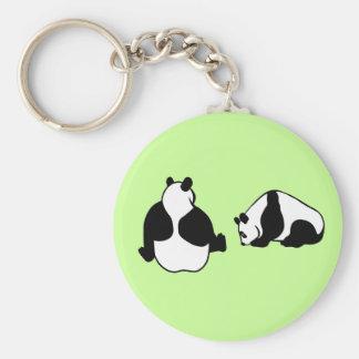 2 pandas key chains