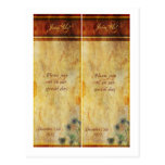 2 Peacock Feather Save the Date Bookmarks