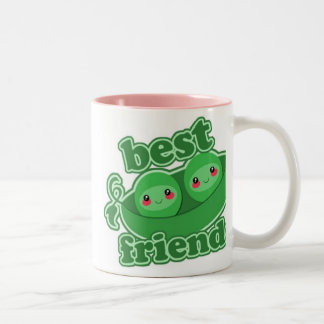 2 PEAS  BEST FRIENDS Two-Tone COFFEE MUG
