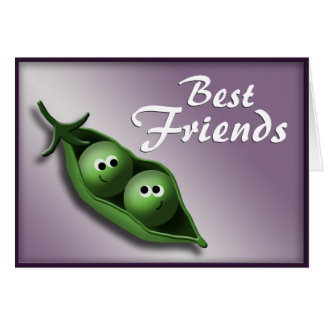 2 Peas in a Pod ~ Best Friends Notecards Stationery Note Card