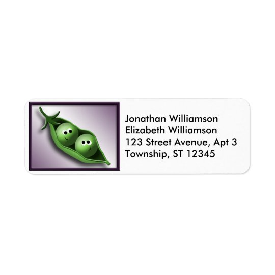2 Peas in a Pod Return Address Labels