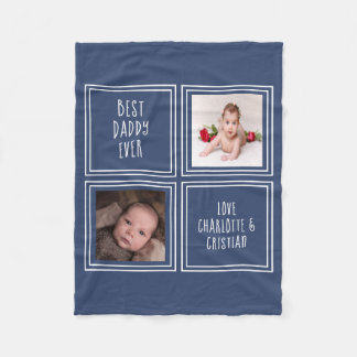 2 Photo And Text Design Your Own Personalized Fleece Blanket