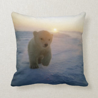 #2-Polar Bear Cub Throw Pillow