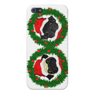 2 Pug Santas iPhone 5 Case