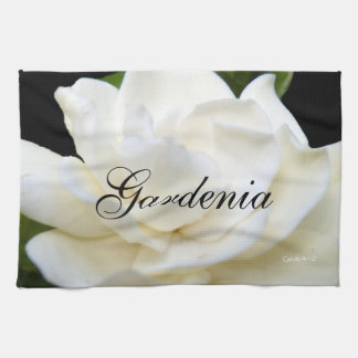 2 Pure White Gardenia Tea Towel