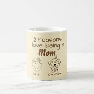 2 Reasons I love being a Mom - Boy & Dog Coffee Mug