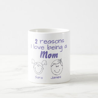 2 Reasons I love being a Mom - Girl & Boy Coffee Mug
