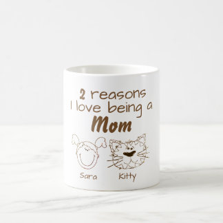 2 Reasons I love being a Mom - Girl & Cat Coffee Mug
