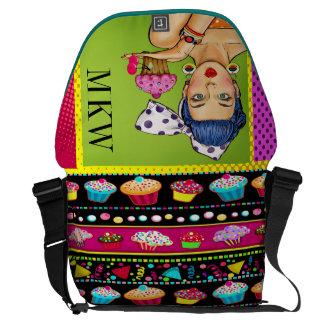 #2 Retro Pop Art Lg Rickshaw Bag Messenger Bags