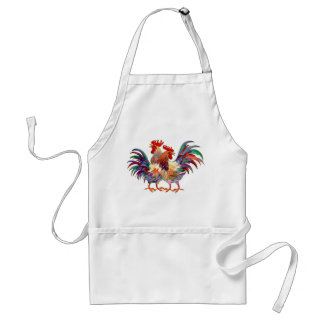 2 ROOSTERS by SHARON SHARPE Standard Apron
