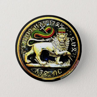 "2¼"" Round Ethiopian Lion of Judah Coin Badge"