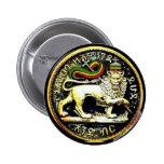 "2¼"" Round Ethiopian Lion of Judah Coin Badge"
