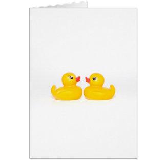 2 rubber ducks in love card