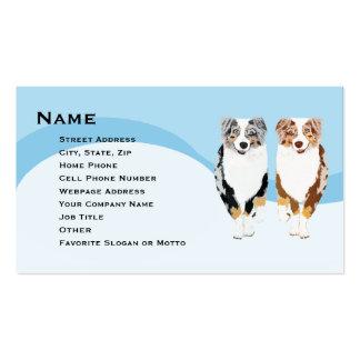 2 Running Aussies Custom Business Card