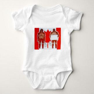 2 Sagittal big foot,1 text on Canada flag,.JPG Baby Bodysuit