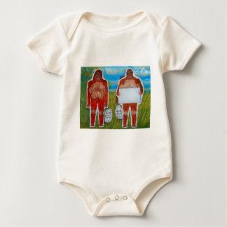 2 Sagittal bigfoot,1 text, in Everglades,.JPG Baby Bodysuit