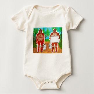 2 Sagittal bigfoot, 1 text in outback Au,.JPG Baby Bodysuit