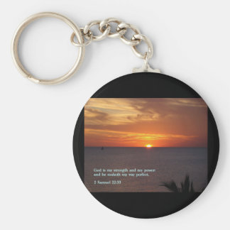 2 Samuel 22:33  Sunset Key Chains