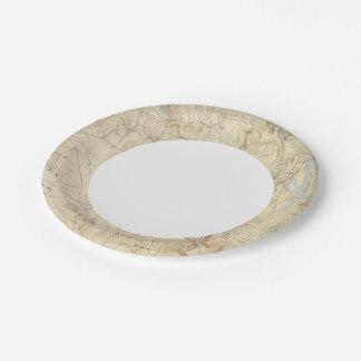 2 Sandisfield sheet 7 Inch Paper Plate