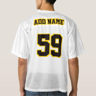 2 Side BLACK GOLDEN YELLOW WHITE Mens Sport Jersey