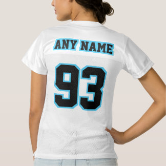 2 Side BLACK LIGHT BLUE WHITE Womens Sports Jersey