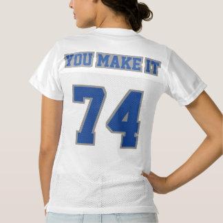 2 Side BLUE GREY WHITE Womens Football Jersey
