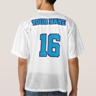 2 Side BLUE WHITE Mens Football Jersey