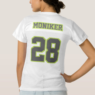 2 Side DARK GREY LIME GREEN WHITE Womens Jersey