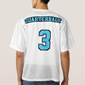 2 Side LIGHT BLUE BLACK WHITE Mens Football Jersey