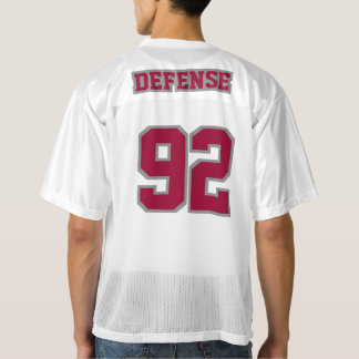 2 Side MAROON GREY WHITE Mens Football Jersey