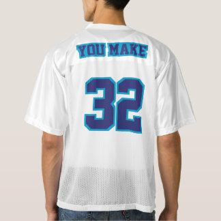 2 Side NAVY BLUE WHITE Men Football Jersey