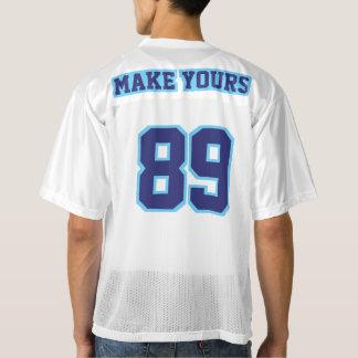 2 Side NAVY LIGHT BLUE WHITE Men Football Jersey