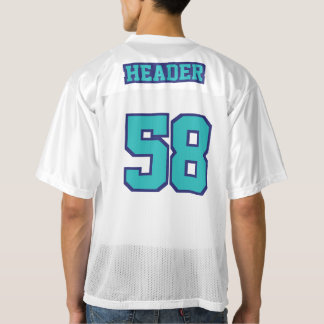 2 Side TURQUOISE NAVY BLUE WHITE Mens Sport Jersey