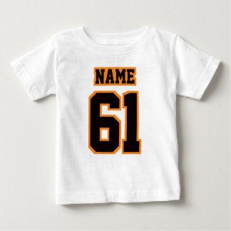 2 Side WHITE BLACK ORANGE Football Crewneck Baby T-Shirt
