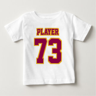 2 Side WHITE BURGUNDY GOLD Football Crewneck Baby T-Shirt