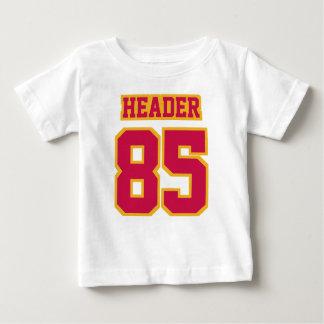 2 Side WHITE CRIMSON RED GOLD Football Crewneck Baby T-Shirt