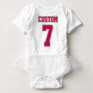 2 Side WHITE CRIMSON SILVER Tutu Football Babywear Baby Bodysuit
