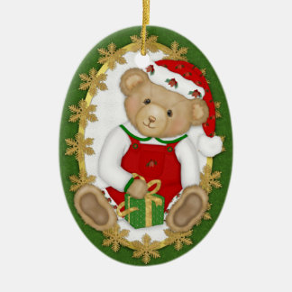 2 Sided - Beary Merry Teddy Bear Ornament