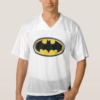 2 Sided Classic Batman Logo | Add Your Name Men's Football Jersey