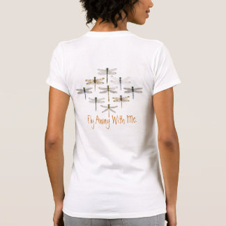 2 sided Dragonfly Casual Top Tee Shirts