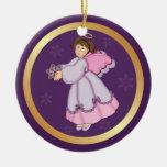 2 Sided - Snowflake Angel Ornament