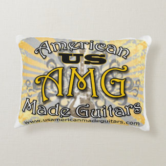 2 sided US American Made Guitars Logo Pillows