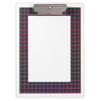 2 sides printed ACRYLIC CLIP BOARD Graphic Borders Clipboard