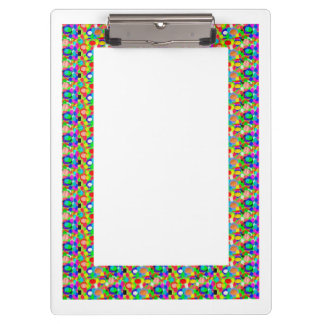 2 sides printed ACRYLIC CLIP BOARD Graphic Borders Clipboards