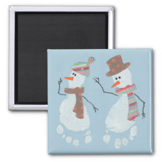 2 Snowmen Magnet