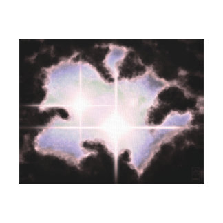 2-Star Nebula Canvas Print