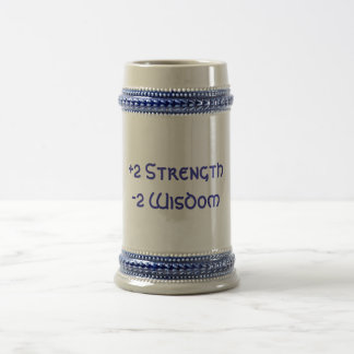 +2 Strength, -2 Wisdom 18 Oz Beer Stein