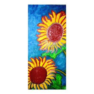 2 Sunflowers by Piliero Custom Rack Card